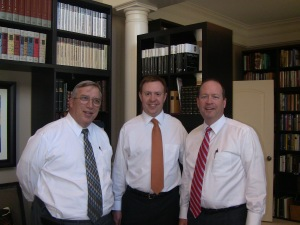 Steve Eccles, Patrick Mason, and Cris Baird prior to fireside on May 20, 2012.
