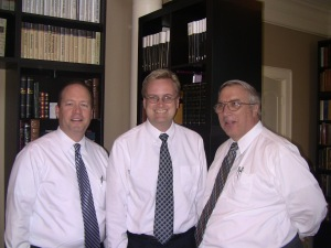 Cris Baird, Matt Grow, and Steve Eccles prior to fireside on October 21, 2012.