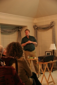 Sam Brown speaks to Miller Eccles Study Group in Plano, January 26, 2013