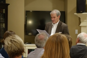 Tom Griffith speaks to Miller Eccles Study Group Texas on Saturday, November 23, 2013, in Arlington, Texas.