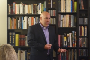 David Bokovoy speaks to Miller Eccles Study Group Texas in McKinney on March 21, 2014.