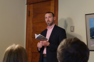 Adam Miller speaks to Miller Eccles Study Group Texas at a study group meeting in McKinney Texas on June 27, 2014.