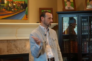 Adam Miller speaks to Miller Eccles Study Group Texas at a study group meeting in Arlington, Texas on June 28, 2014.