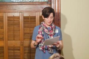 Neylan McBaine presenting to Miller Eccles Study Group Texas, in McKinney, on November 7, 2014.