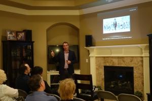 Paul Reeve speaks to Miller Eccles Study Group Texas in Arlington, Texas, on February 20, 2016.