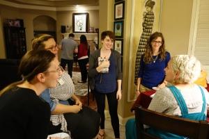 Ashley Mae Hoiland visits with attendees after her presentation. November 12, 2016.